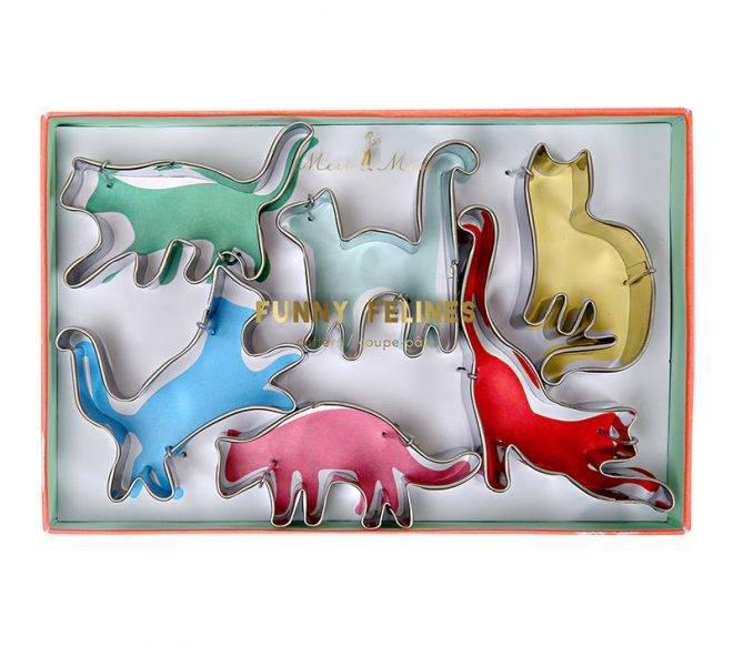 MERIMERI Funny felines cutters