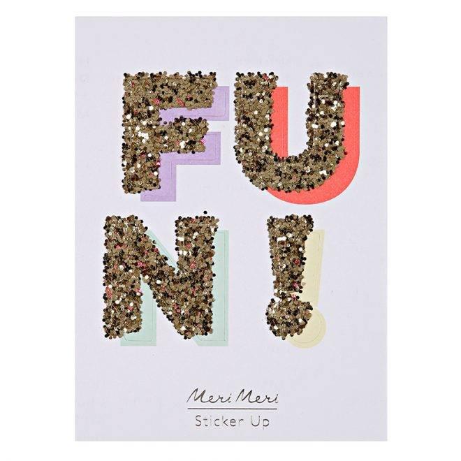 MERIMERI Fun! glitter stickers