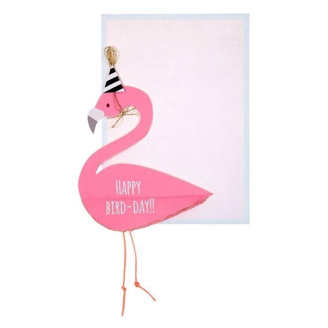MERIMERI Flamingo honeycomb card
