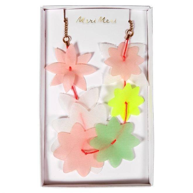 MERIMERI Fabric floral lei necklace