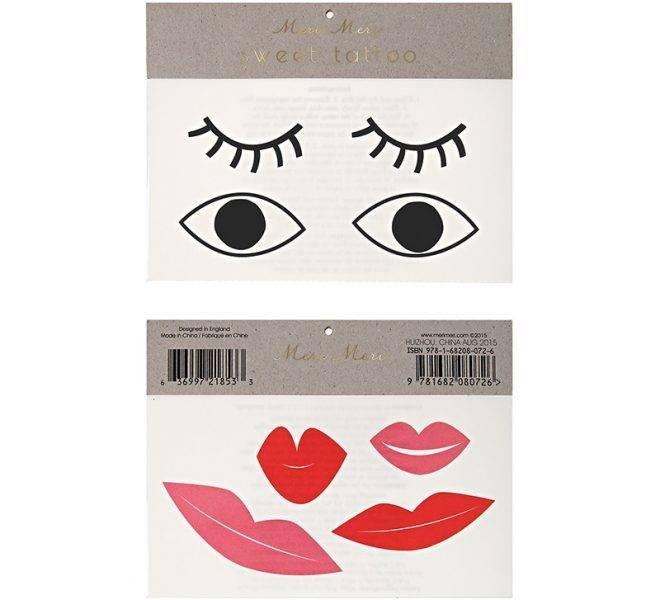 MERIMERI Eyes & lips tattoos