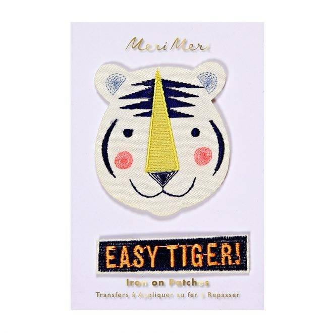MERIMERI Easy tiger patches