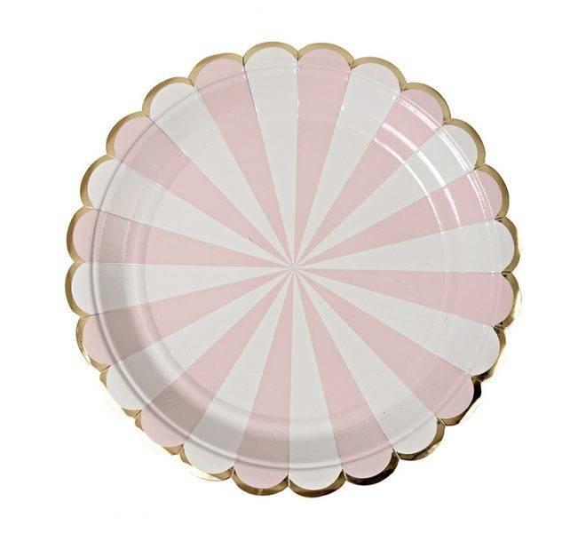 MERIMERI Dusty pink striped small plates