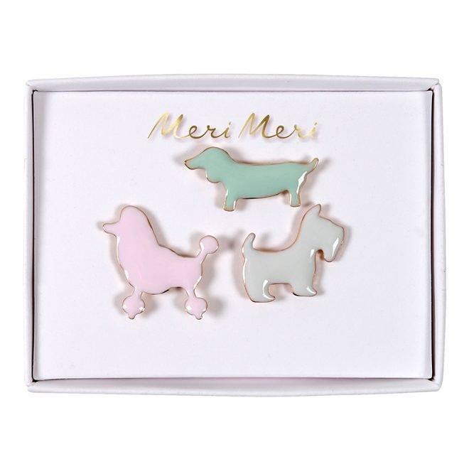 MERIMERI Dog enamel pins