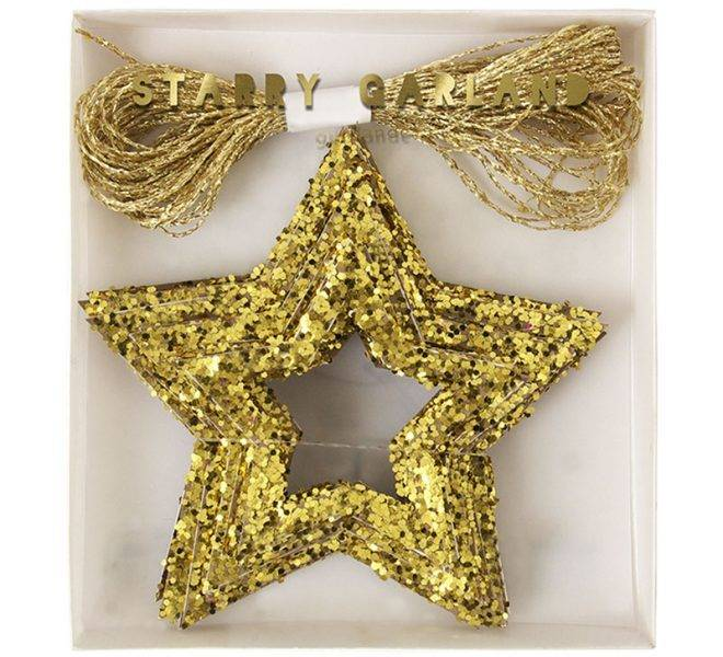 MERIMERI Chunky glitter stars mini garland