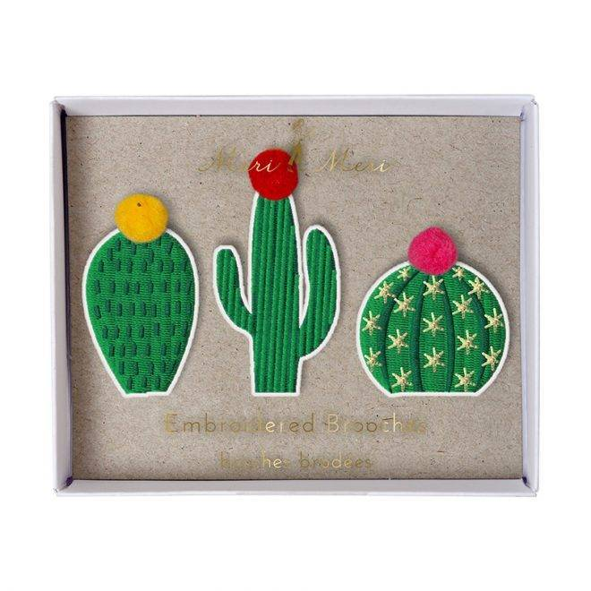 MERIMERI Cactus brooches
