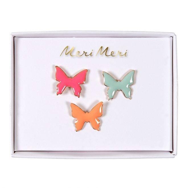 MERIMERI Butterfly enamel pins