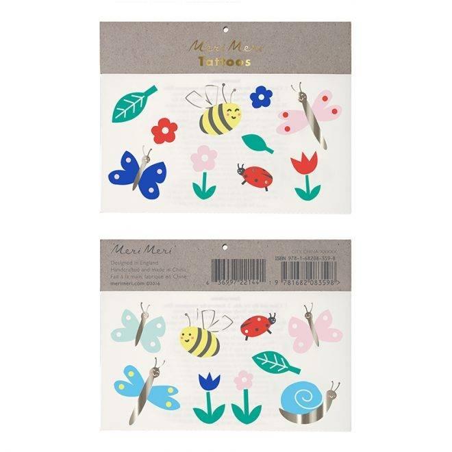 MERIMERI Bugs and flowers tattoos