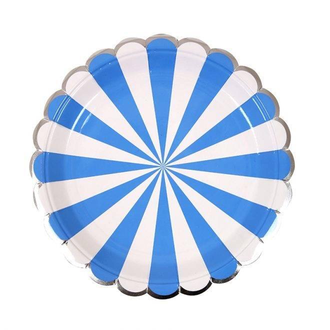 MERIMERI Blue striped small plates