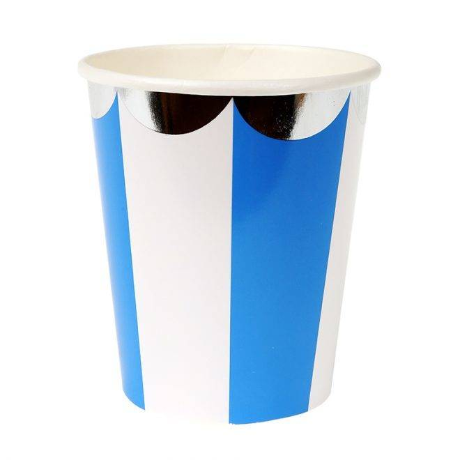 MERIMERI Blue striped cups