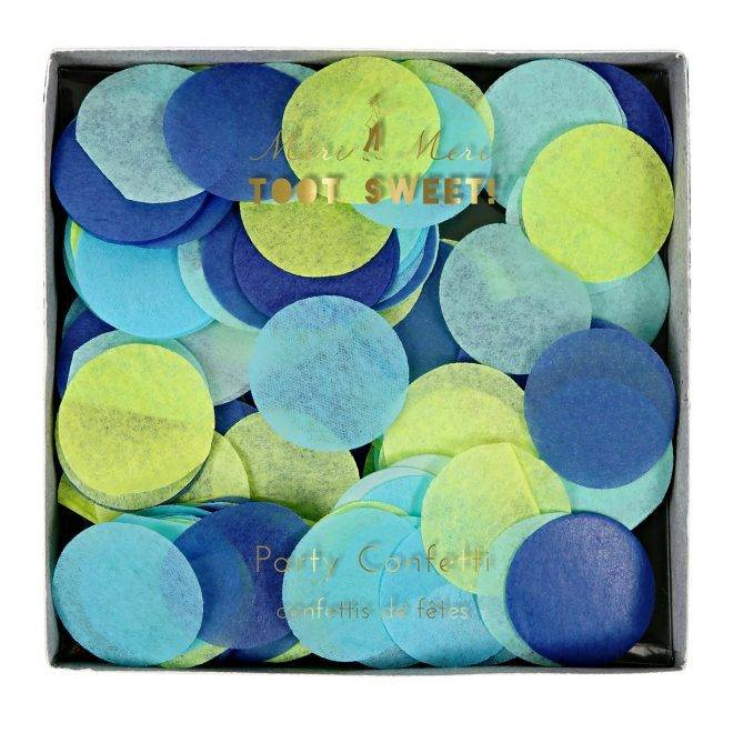 MERIMERI Blue party confetti