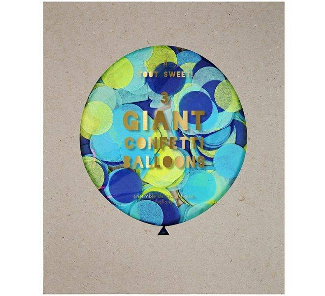 MERIMERI Blue giant confetti balloon kit