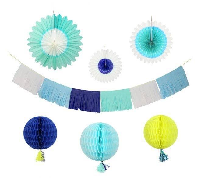 MERIMERI Blue decorating kit