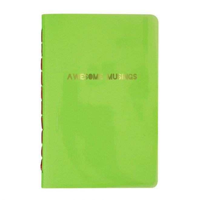 MERIMERI Awesome musings green notebook