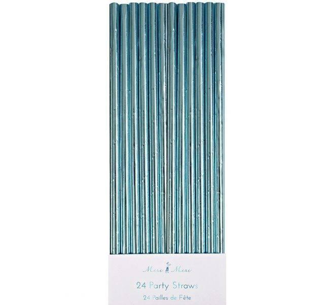 MERIMERI Aqua foil party straws