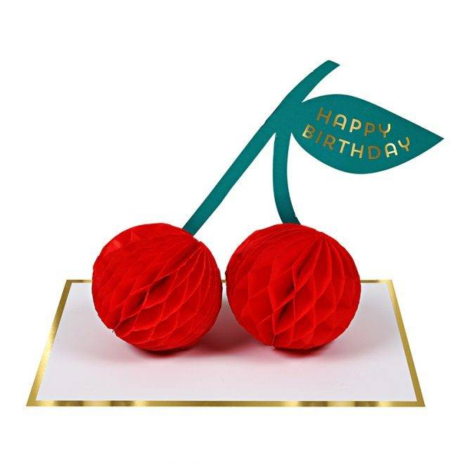 MERIMERI Cherries honeycomb card