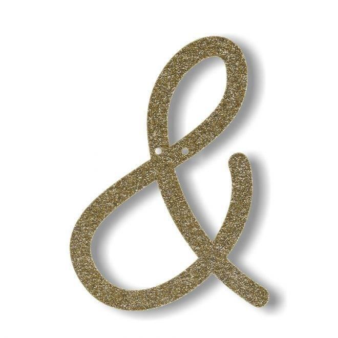 MERIMERI Gold glitter acrylic bunting &