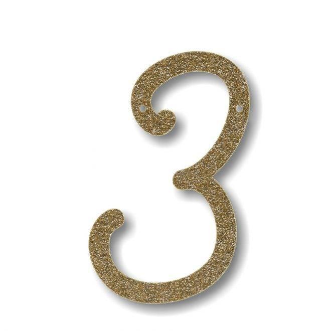 MERIMERI Gold glitter acrylic bunting 3