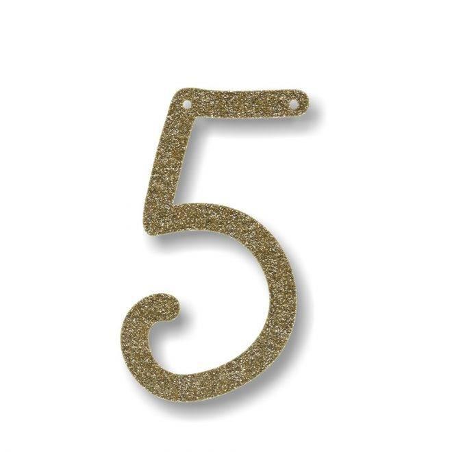 MERIMERI Gold glitter acrylic bunting 5