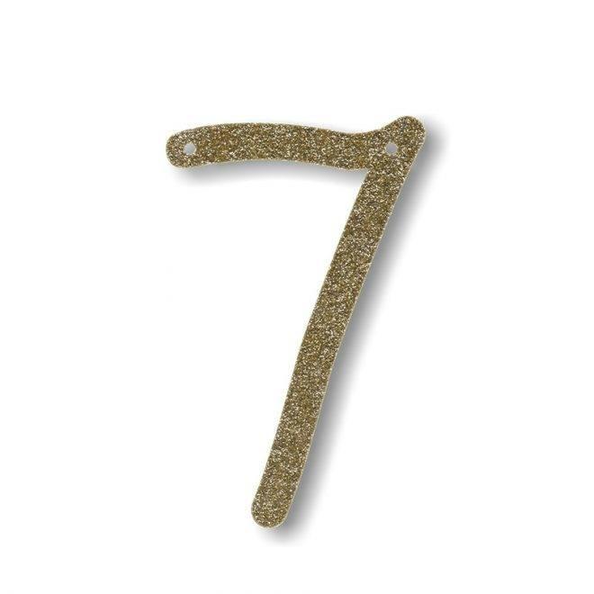 MERIMERI Gold glitter acrylic bunting 7