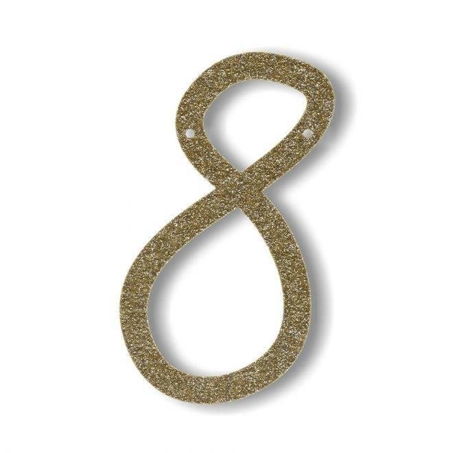 MERIMERI Gold glitter acrylic bunting 8