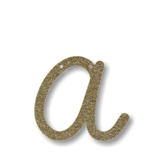 MERIMERI Gold glitter acrylic bunting A