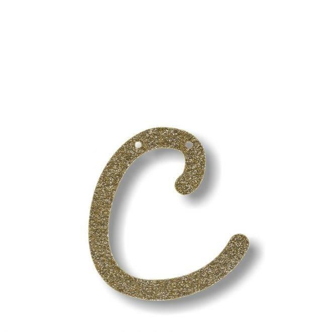 MERIMERI Gold glitter acrylic bunting C