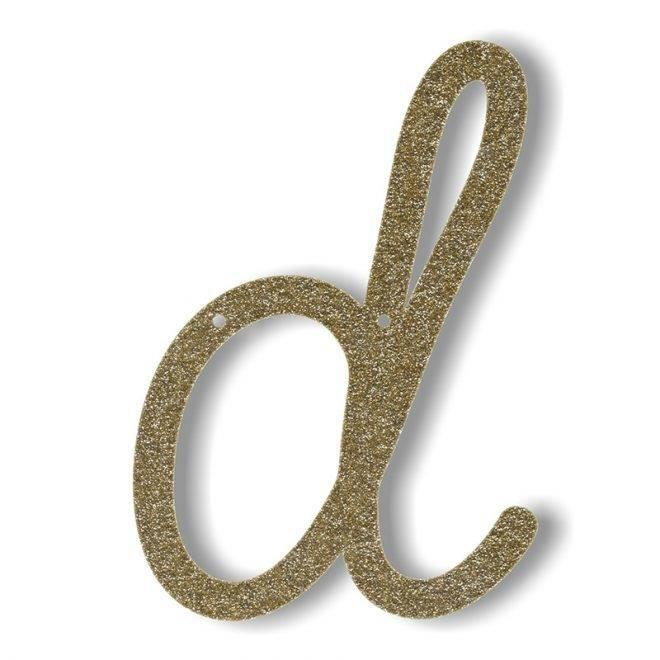 MERIMERI Gold glitter acrylic bunting D