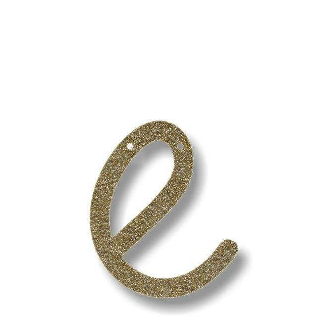 MERIMERI Gold glitter acrylic bunting E