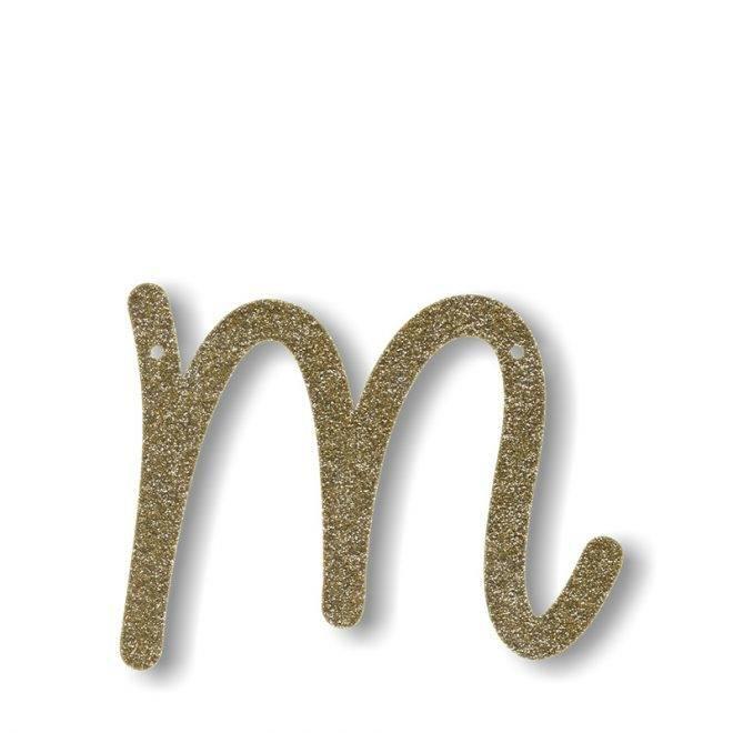 MERIMERI Gold glitter acrylic bunting M