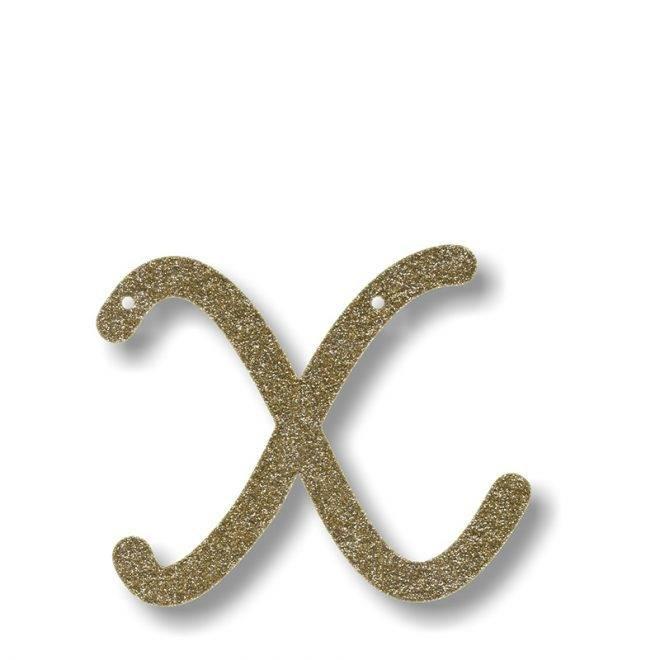 MERIMERI Gold glitter acrylic bunting X