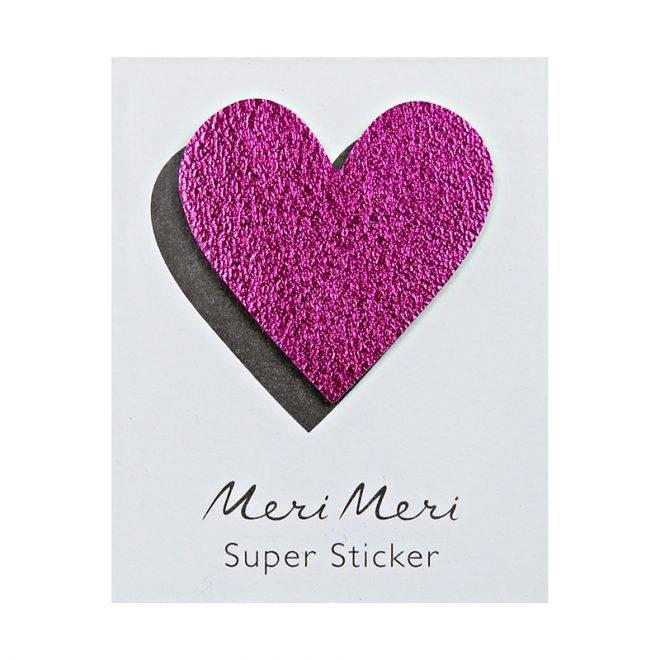 MERIMERI Leather sticker HEART