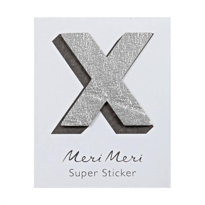 MERIMERI Leather sticker X