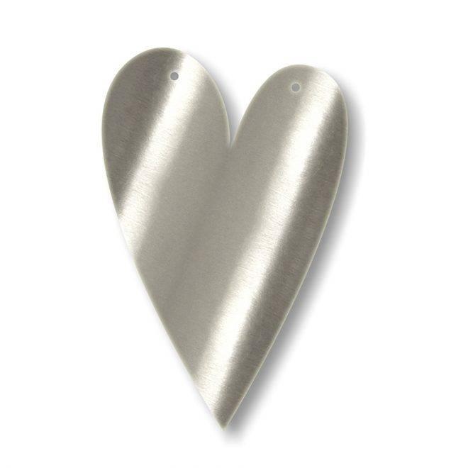 MERIMERI Silver acrylic bunting HEART