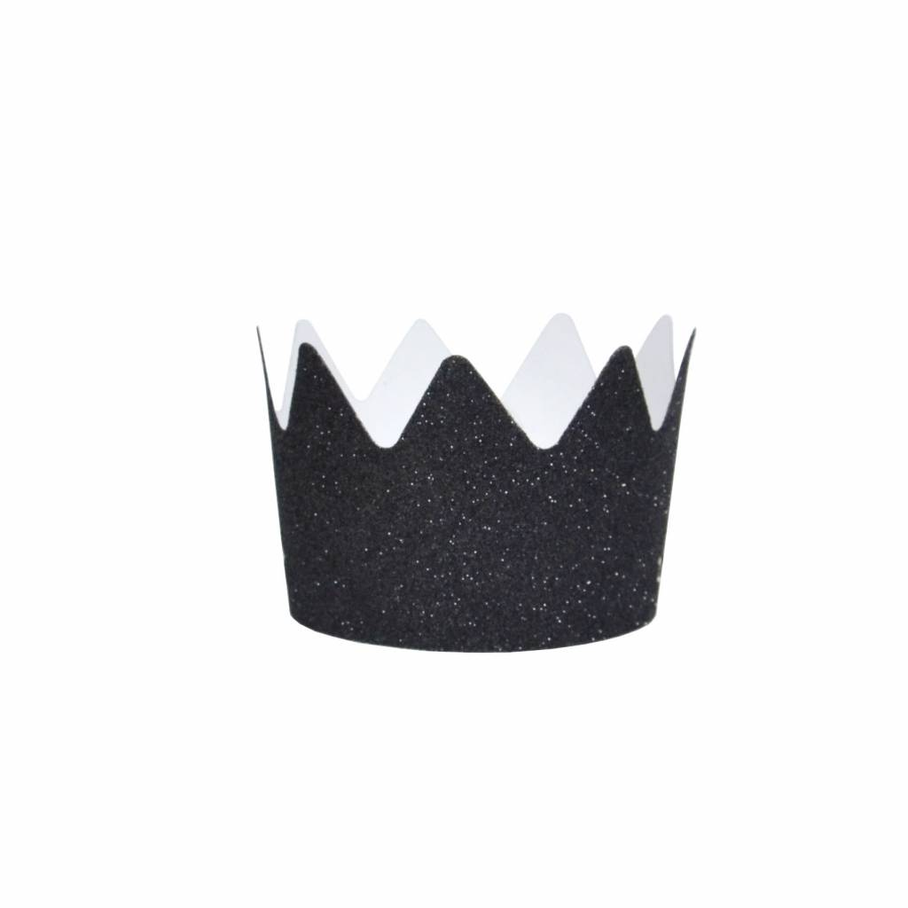 MY LITTLE DAY 8 black glitter party crowns