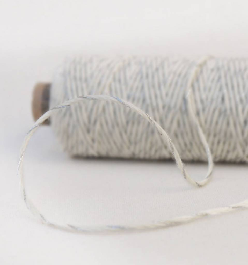 Garn & Mehr bakers twine silver- natural white