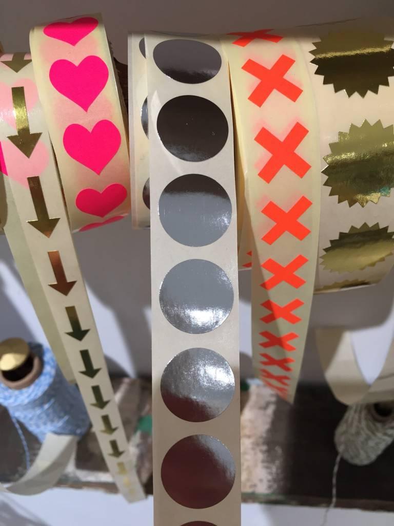 KD sticker round silver 2 cm