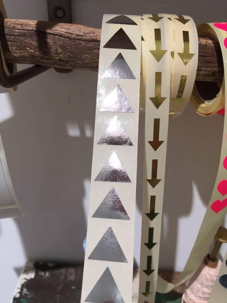 KD sticker mini piramide silver 1,5 cm