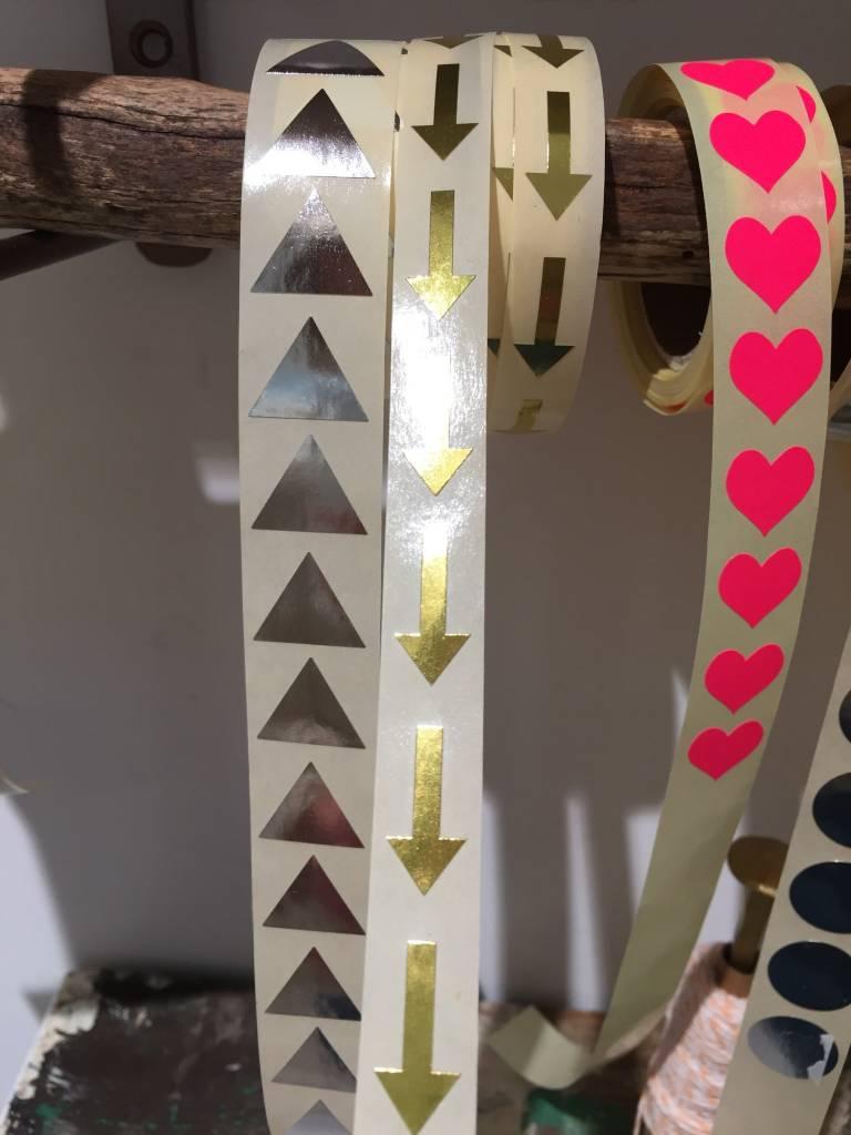 KD sticker arrow gold 1x2 cm