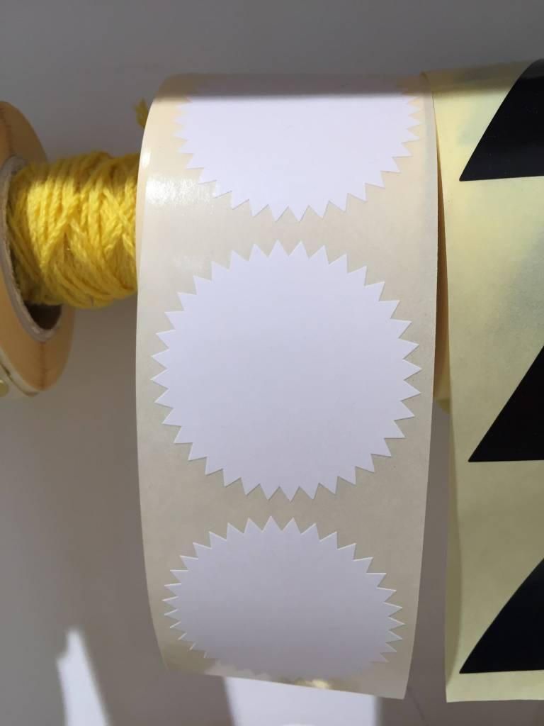 KD sticker star white 5 cm