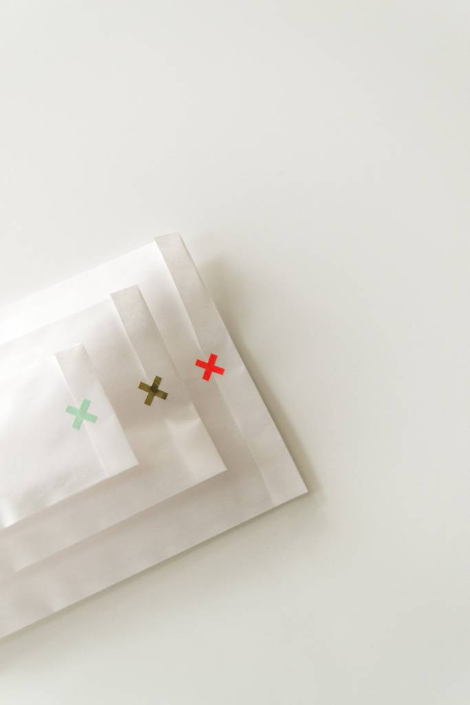 KD sticker mini cross neon orange 1,5 cm