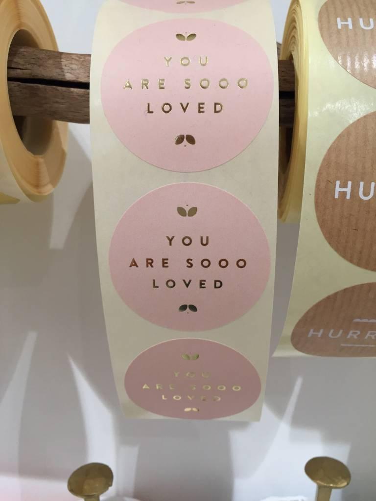 KD sticker sooo loved pink 5 cm