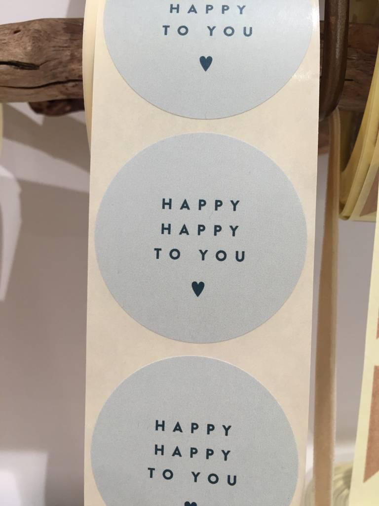 KD sticker happy happy green 5 cm
