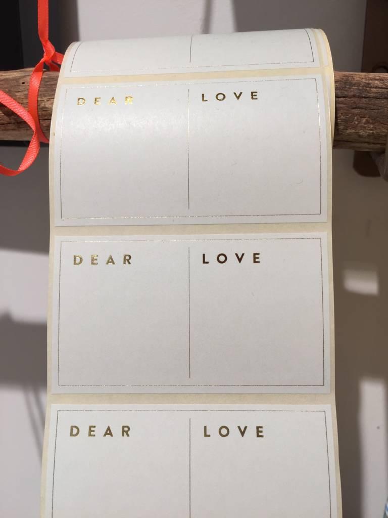 KD etiket dear/love blue 8x4,6 cm