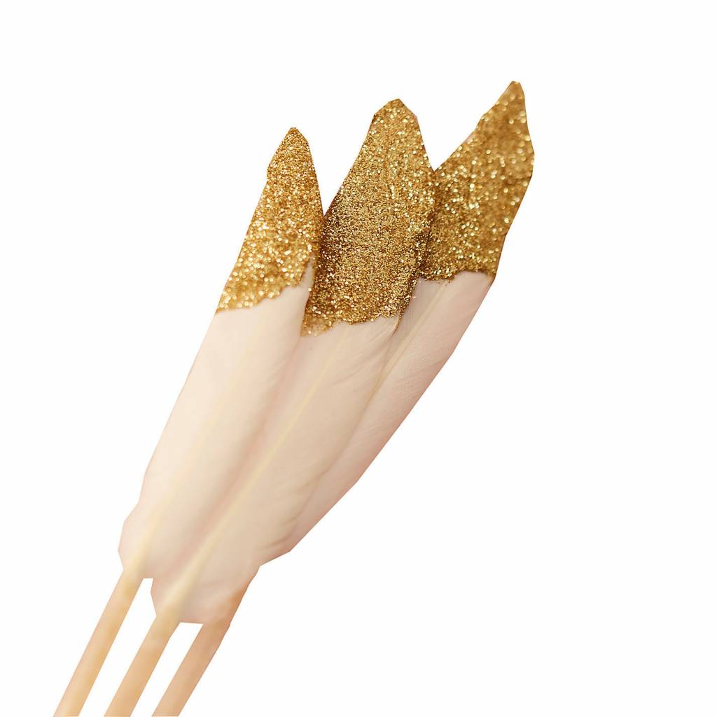 GINGERRAY Dipped Feather  gold