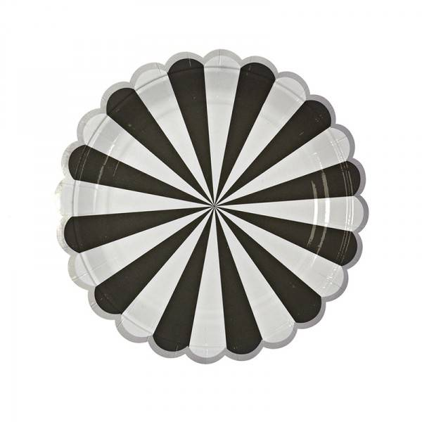 MERIMERI black striped small plates