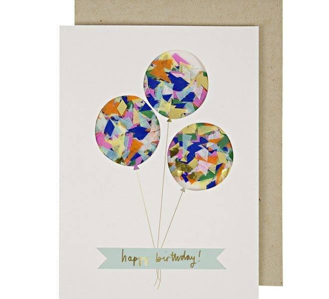 MERIMERI confetti balloon card