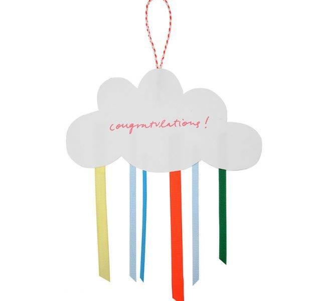 MERIMERI cloud congratulations card