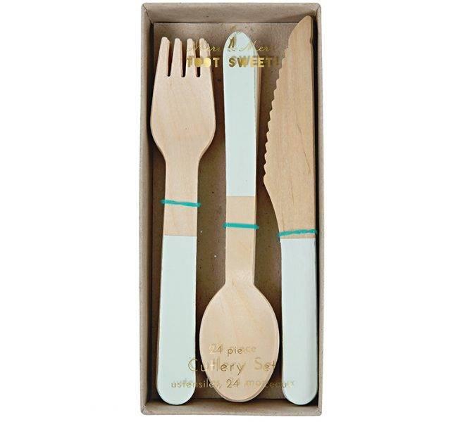 MERIMERI Wooden cutlery mint