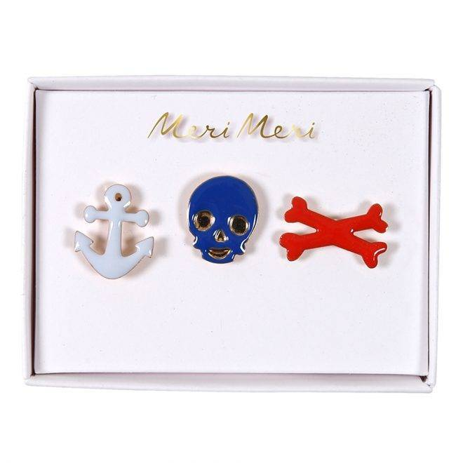 MERIMERI Pirate enamel pins